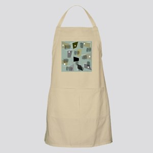 Mid-century Modern Green Abstract Apron