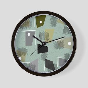 Mid-century Modern Green Abstract Wall Clock