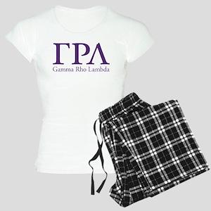 Gamma Rho Lambda Letters Women's Light Pajamas