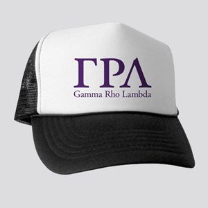 Gamma Rho Lambda Letters Trucker Hat