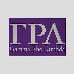 Gamma Rho Lambda Letters Rectangle Magnet