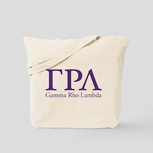 Gamma Rho Lambda Letters Tote Bag