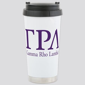 Gamma Rho Lambda Letter Stainless Steel Travel Mug