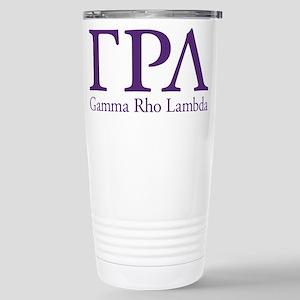 Gamma Rho Lambda Letter Stainless Steel Travel Mug