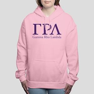 Gamma Rho Lambda Letters Women's Hooded Sweatshirt