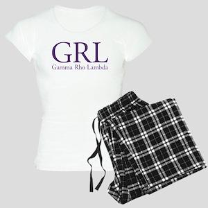 Gamma Rho Lambda GRL Women's Light Pajamas