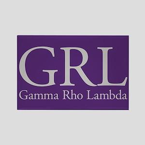 Gamma Rho Lambda GRL Rectangle Magnet
