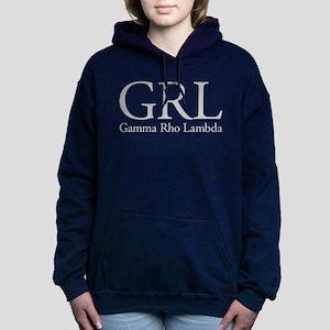 Gamma Rho Lambda GRL Women's Hooded Sweatshirt