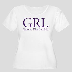 Gamma Rho Lam Women's Plus Size Scoop Neck T-Shirt