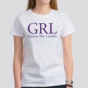 Gamma Rho Lambda GRL Women's T-Shirt