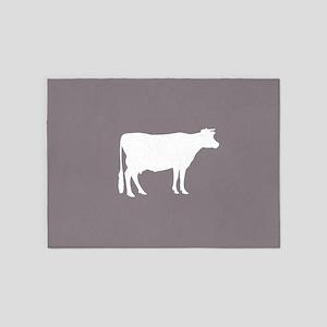 Cow: Purple Lavender 5'x7'Area Rug