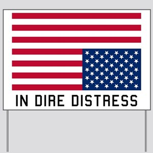 Upside Down Flag Distress Yard Sign