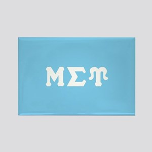 Mu Sigma Upsilon Sorority Letters Rectangle Magnet