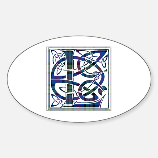 Monogram - Logan Sticker (Oval)