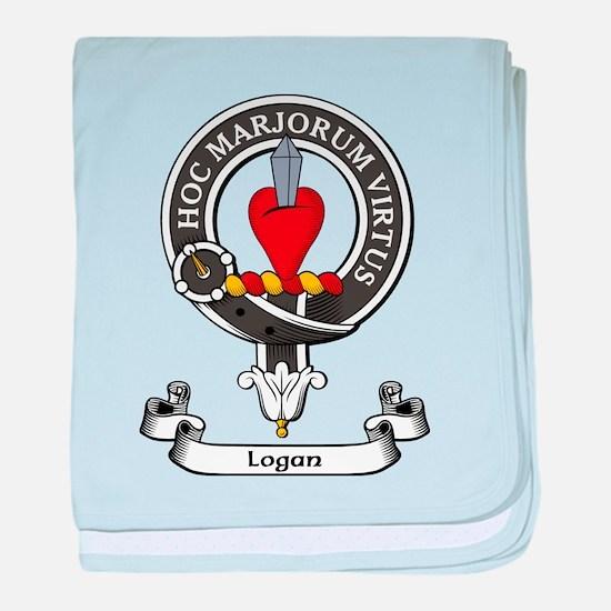 Badge - Logan baby blanket