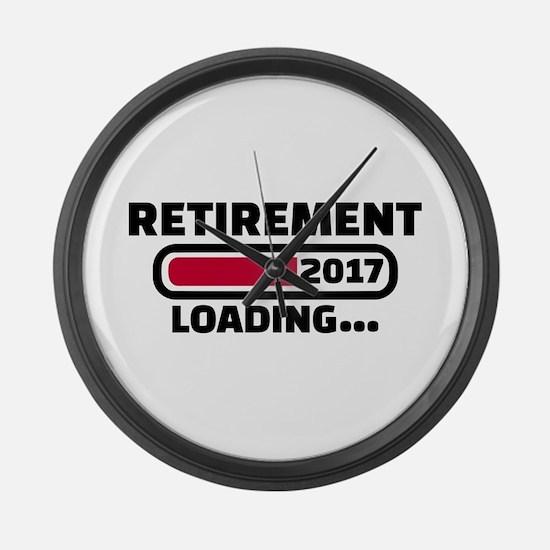 Retirement 2017 Large Wall Clock