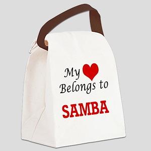 My heart belongs to Samba Canvas Lunch Bag