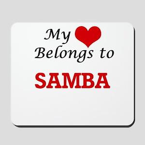 My heart belongs to Samba Mousepad