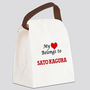 My heart belongs to Sato Kagura Canvas Lunch Bag