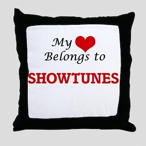 My heart belongs to Showtunes Throw Pillow