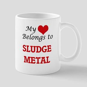 My heart belongs to Sludge Metal Mugs