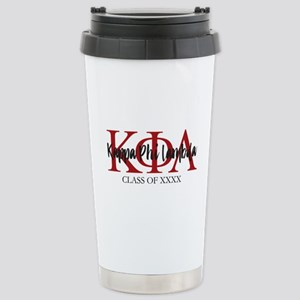 Kappa Phi Lambda Black Stainless Steel Travel Mug