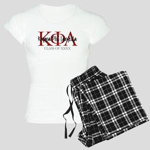 Kappa Phi Lambda Black Red Women's Light Pajamas