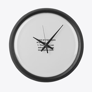 Two Types of People Large Wall Clock