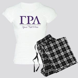 Gamma Rho Lambda Letters Pe Women's Light Pajamas