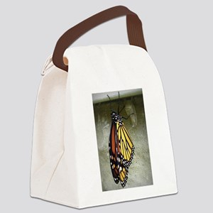 Monarch Butterfly Canvas Lunch Bag