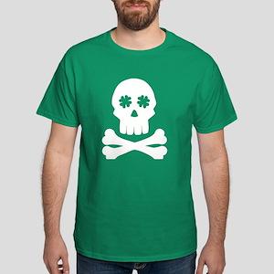 Irish shamrock skull bones T-Shirt