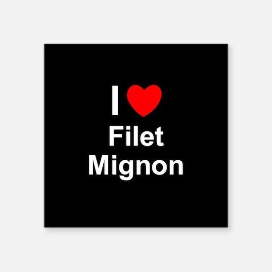 """Filet Mignon Square Sticker 3"""" x 3"""""""