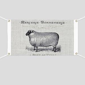 farm animal sheep farmhouse Banner
