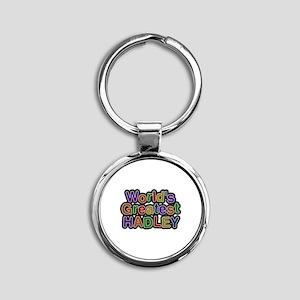 World's Greatest Hadley Round Keychain