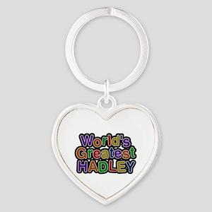 World's Greatest Hadley Heart Keychain