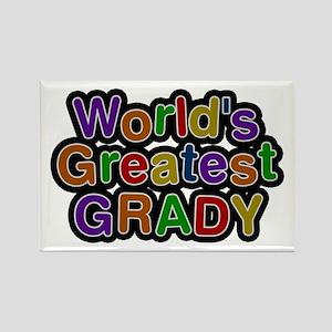 World's Greatest Grady Rectangle Magnet
