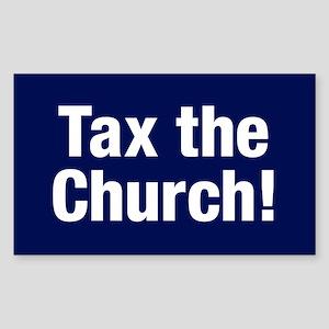 Tax The Church Sticker (rectangle)