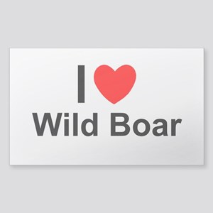 Wild Boar Sticker (Rectangle)