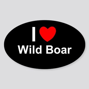 Wild Boar Sticker (Oval)