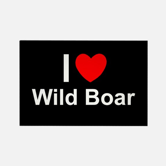 Wild Boar Rectangle Magnet