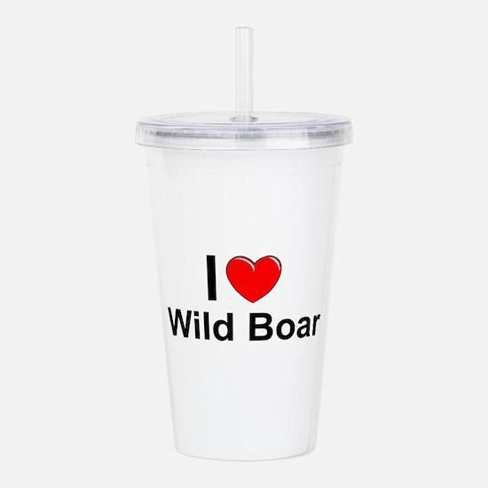Wild Boar Acrylic Double-wall Tumbler