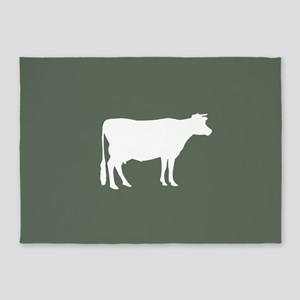 Cow: Green 5'x7'Area Rug