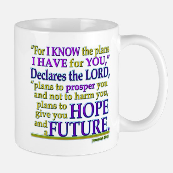 Jeremiah 29:11 Mugs