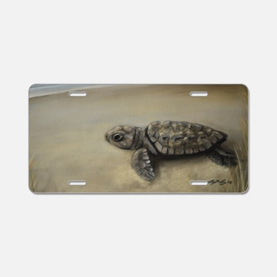Cute Hatch Aluminum License Plate