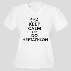 Keep calm and do Heptathlon Plus Size T-Shirt
