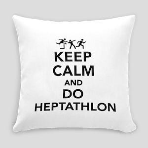 Keep calm and do Heptathlon Everyday Pillow