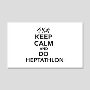 Keep calm and do Heptathlon Car Magnet 20 x 12