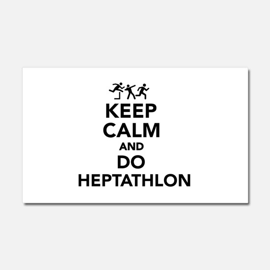 Keep calm and do Heptathlon Car Magnet 20 x 12