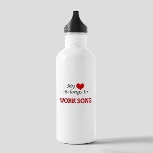 My heart belongs to Wo Stainless Water Bottle 1.0L