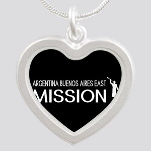 Argentina, Buenos Aires East Silver Heart Necklace